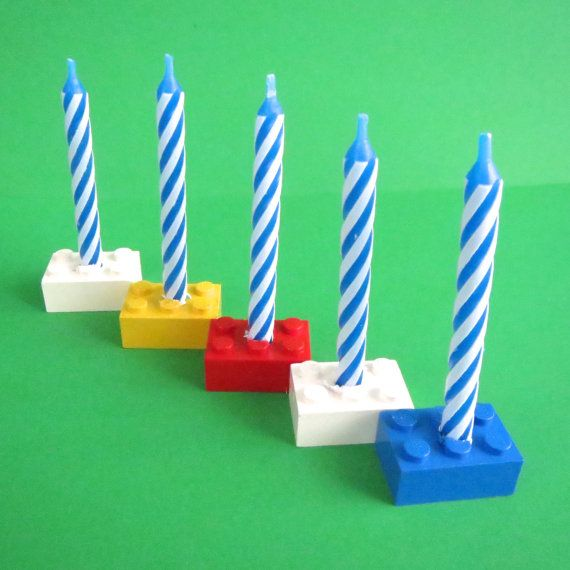 Lego Birthday Candle Holders And Candles By KeepsakesToTreasures 650 Make With Drill