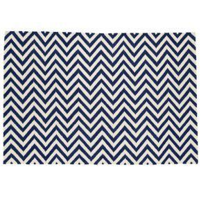 Com Decorative Rugs 8x10 Dark Blue Chevron Rug