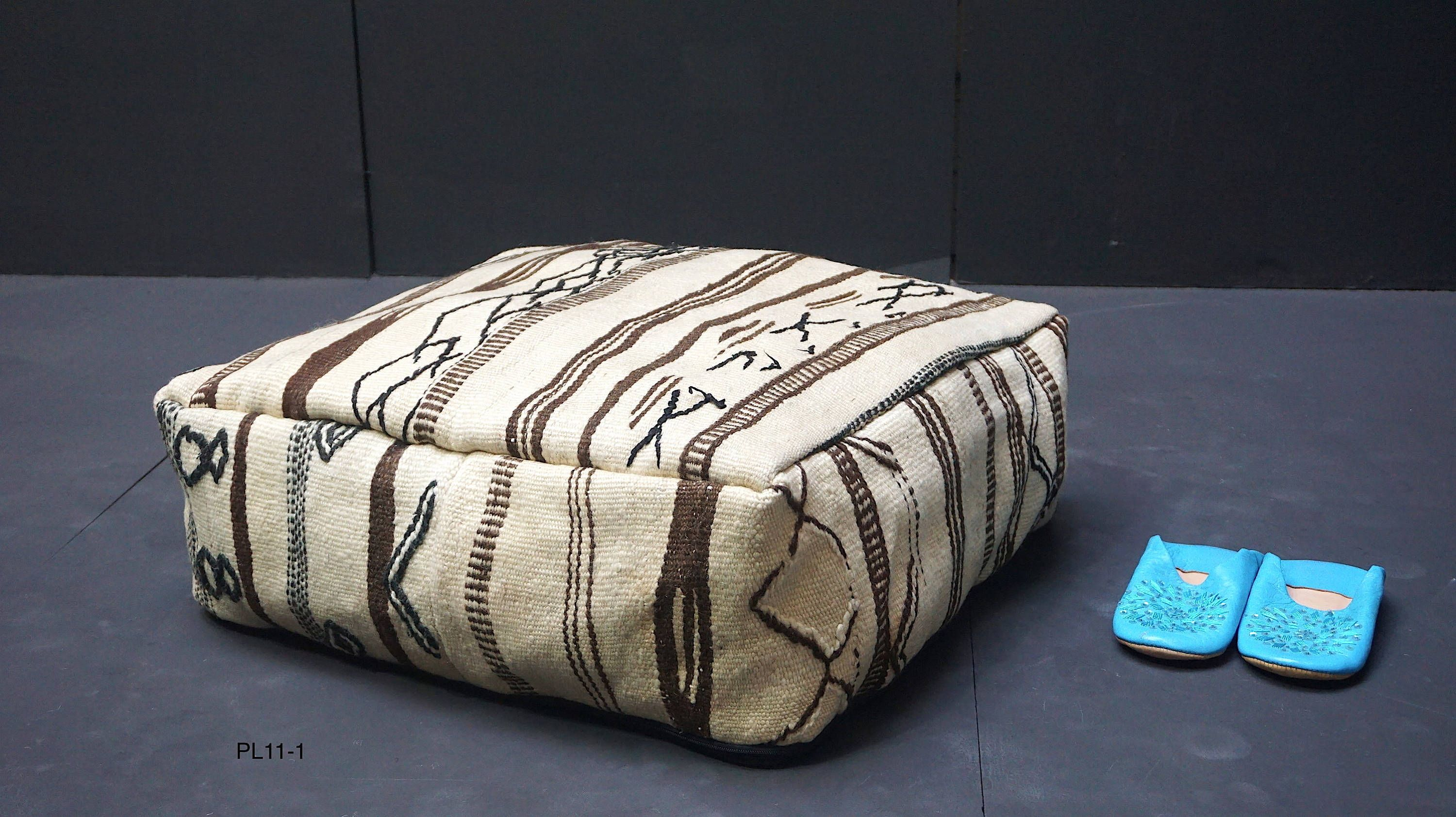 Ottoman Kilim Pouf Square Pouf Custom Rugs African Rugs
