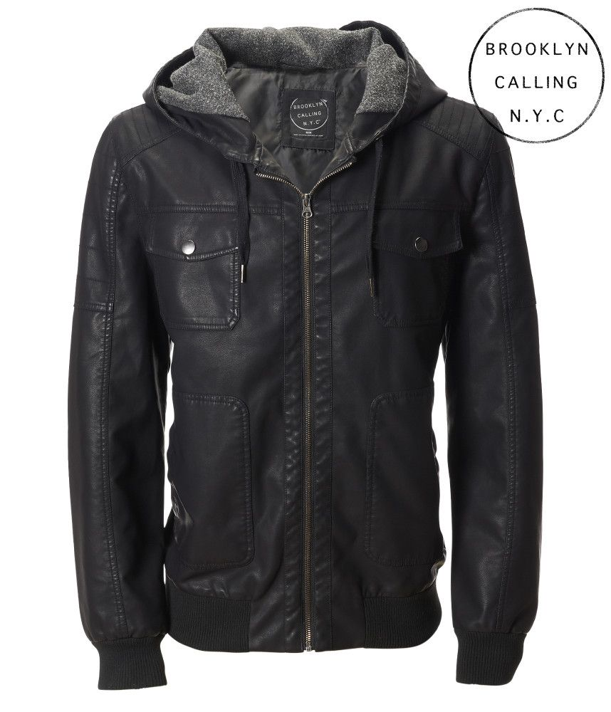 c6d7c05c0 Brooklyn Calling Faux Leather Hooded Jacket - Aeropostale | mordecai ...