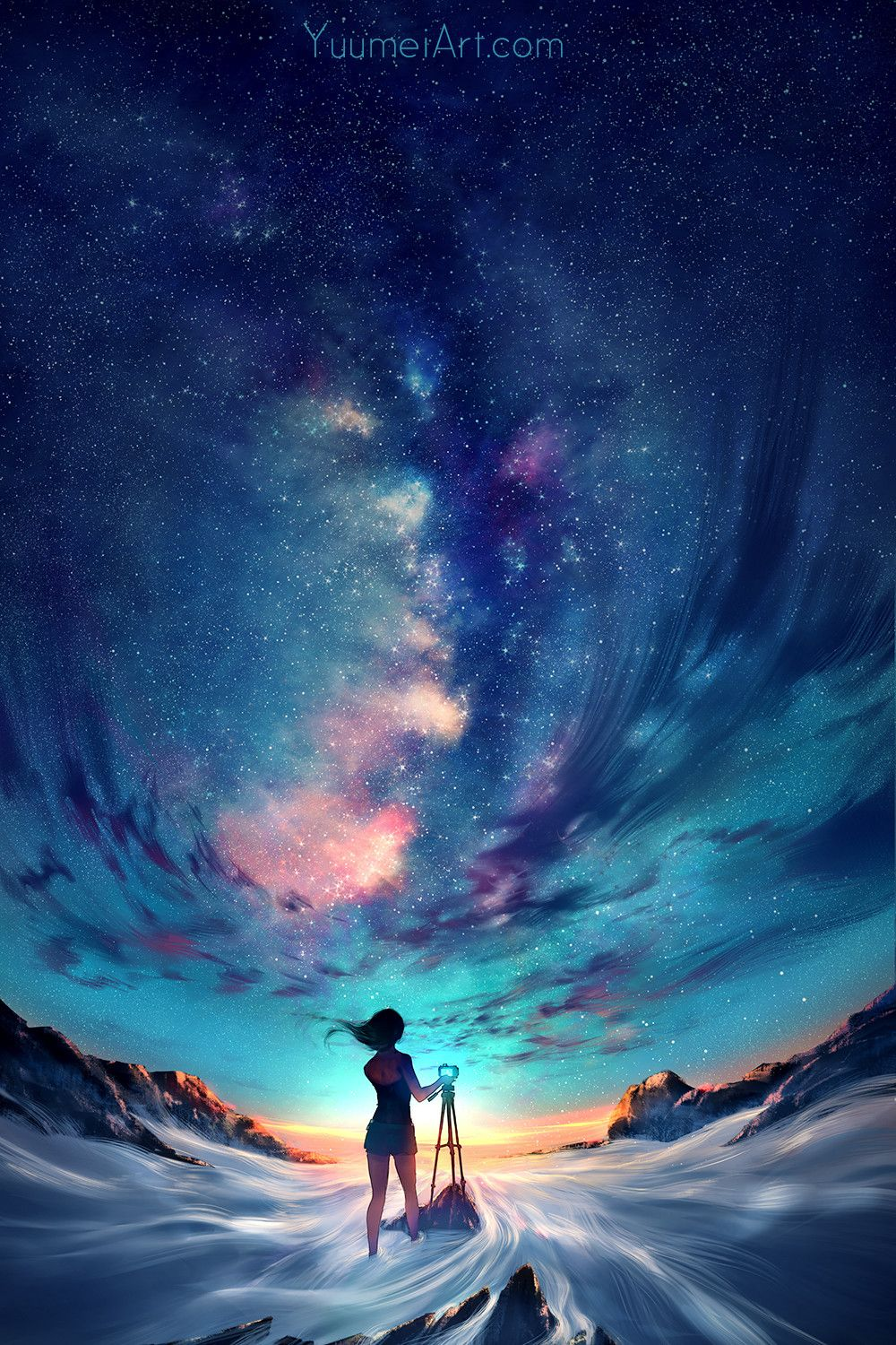 Capture the Sky > loving the atmosphere in this #conceptart by Yuumei