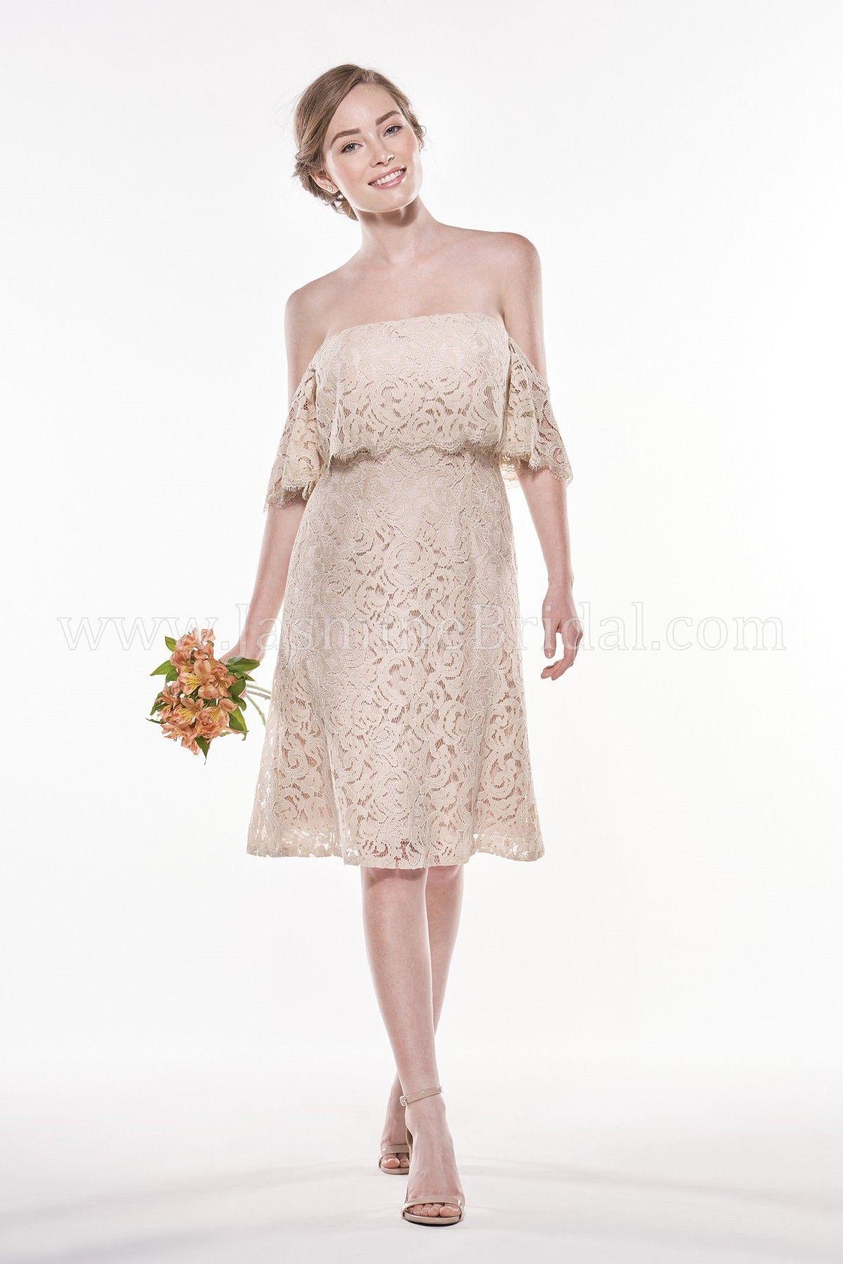 Jasmine Bridal | Jasmine Bridesmaids Style P196015K in Almond ...