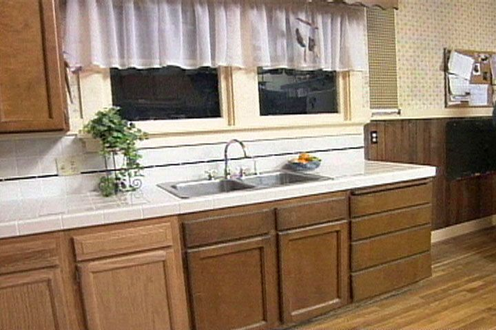 Great Cut And Lay Attractive Ceramic Tile To Replace An Outdated Kitchen  Countertop And Backsplash