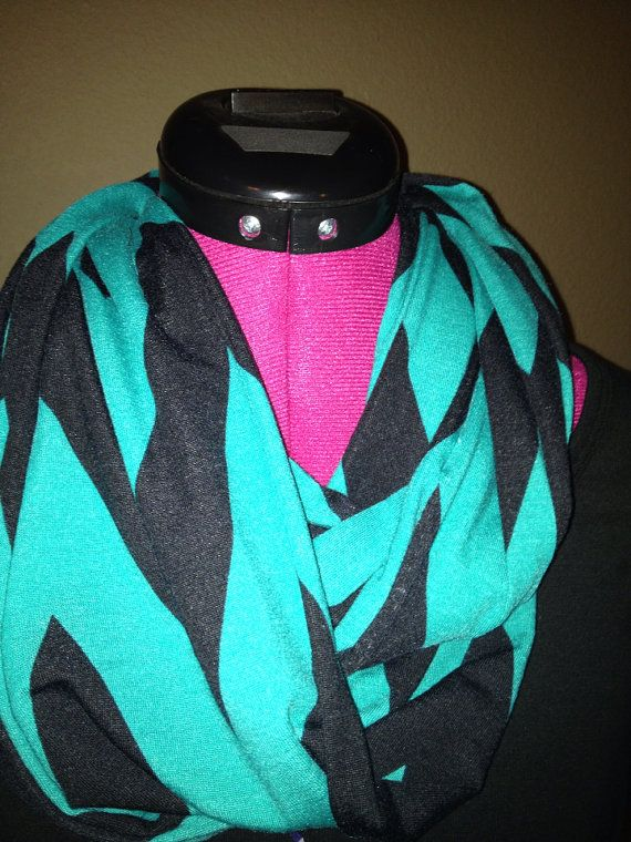 Chevron infinity scarf on Etsy, $11.00