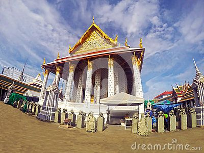One Of The Temples In Bangkok Thailand Located On The Thonburi - Where is thailand located