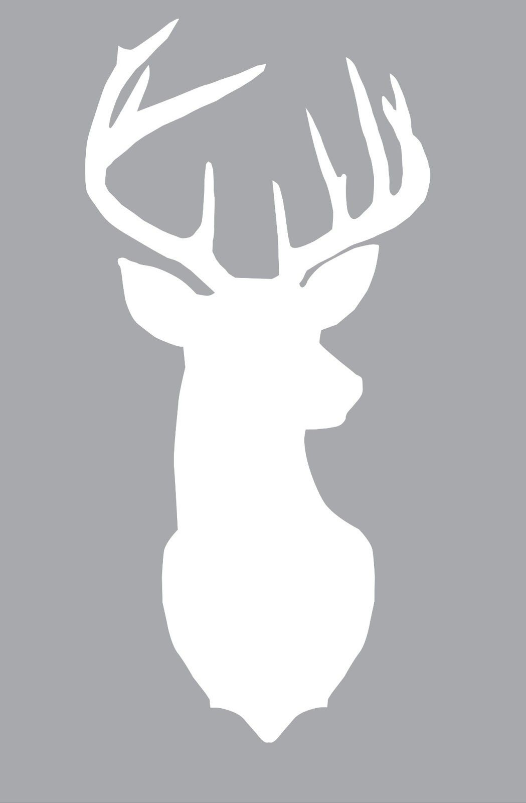Stencil Deer Head for Crafts Projects Fabric Signs Pillows Cards