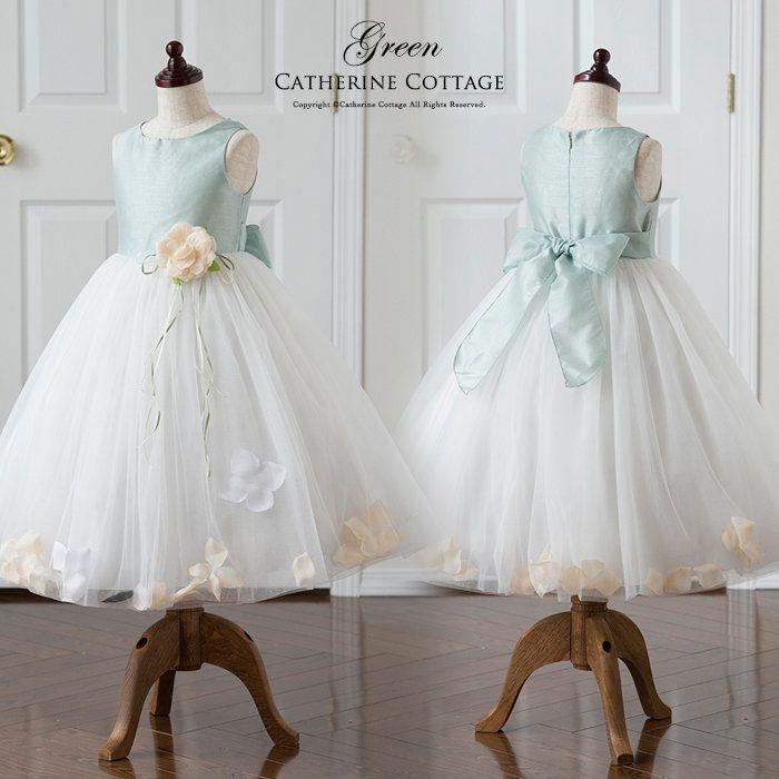 ebbc0940aa083 花びらドレス 発表会 結婚式 120 130 140 150 160 PC734YK。子供ドレス ...