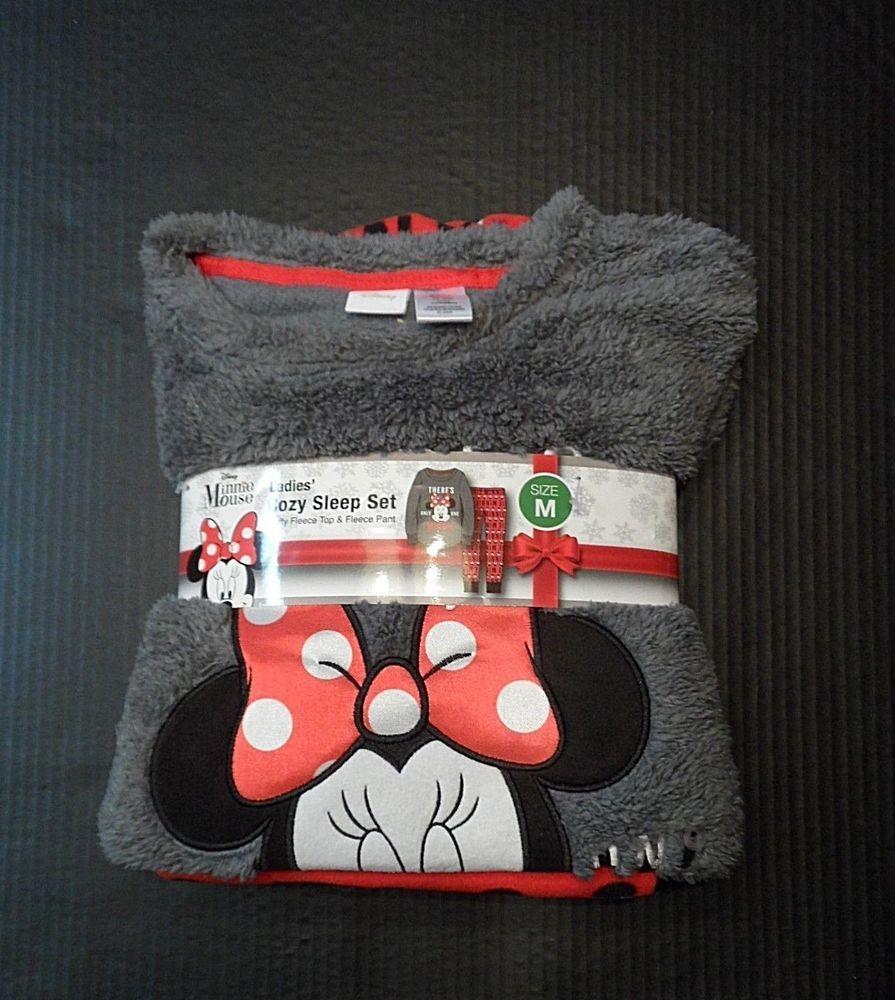 5eadc6a236 Disney Pajama Sleepwear Set Minnie Mouse Ladies Size Medium M Fleece Pants  Top  Disney  PajamaSets  Everyday