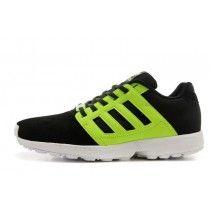 www.vendreshox.com - Chaussures Adidas ZX Flux Homme Noir Et Jaune Fluo Blanc