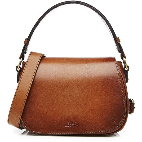 987fb7415c2b Polo Ralph Lauren Leather Saddle Bag ( 405) ❤ liked on Polyvore featuring  bags