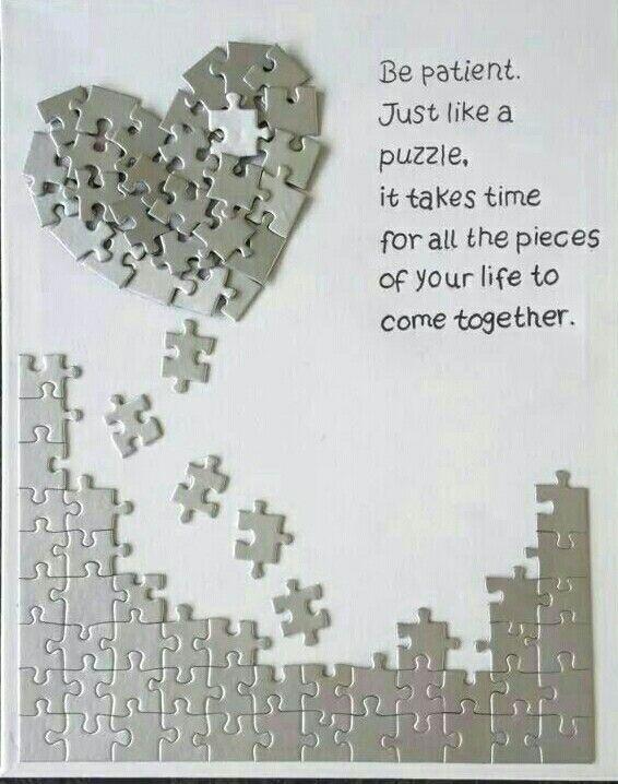 Citaten Verjaardag : Life is like a puzzle teksten spreuken quotes