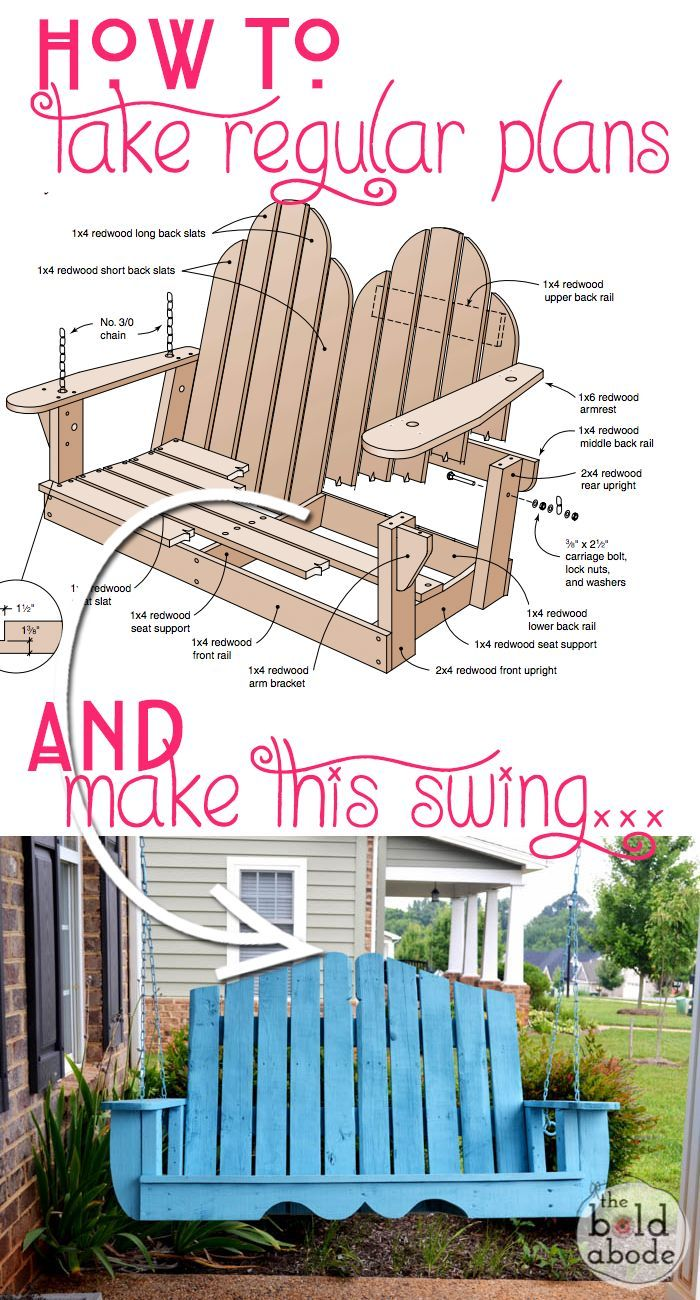 How To Alter Regular Porch Swing Plans For A Unique Porch Swing Diy Porch Swing Plans Porch Swing Plans Porch Swing Pallet
