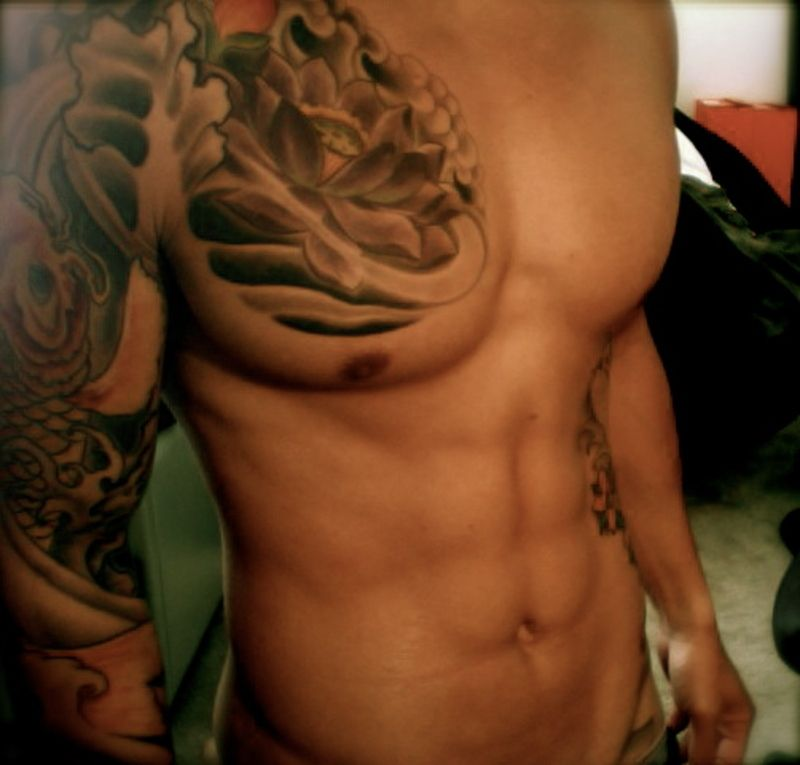 Chest Shoulder Arm Tattoo