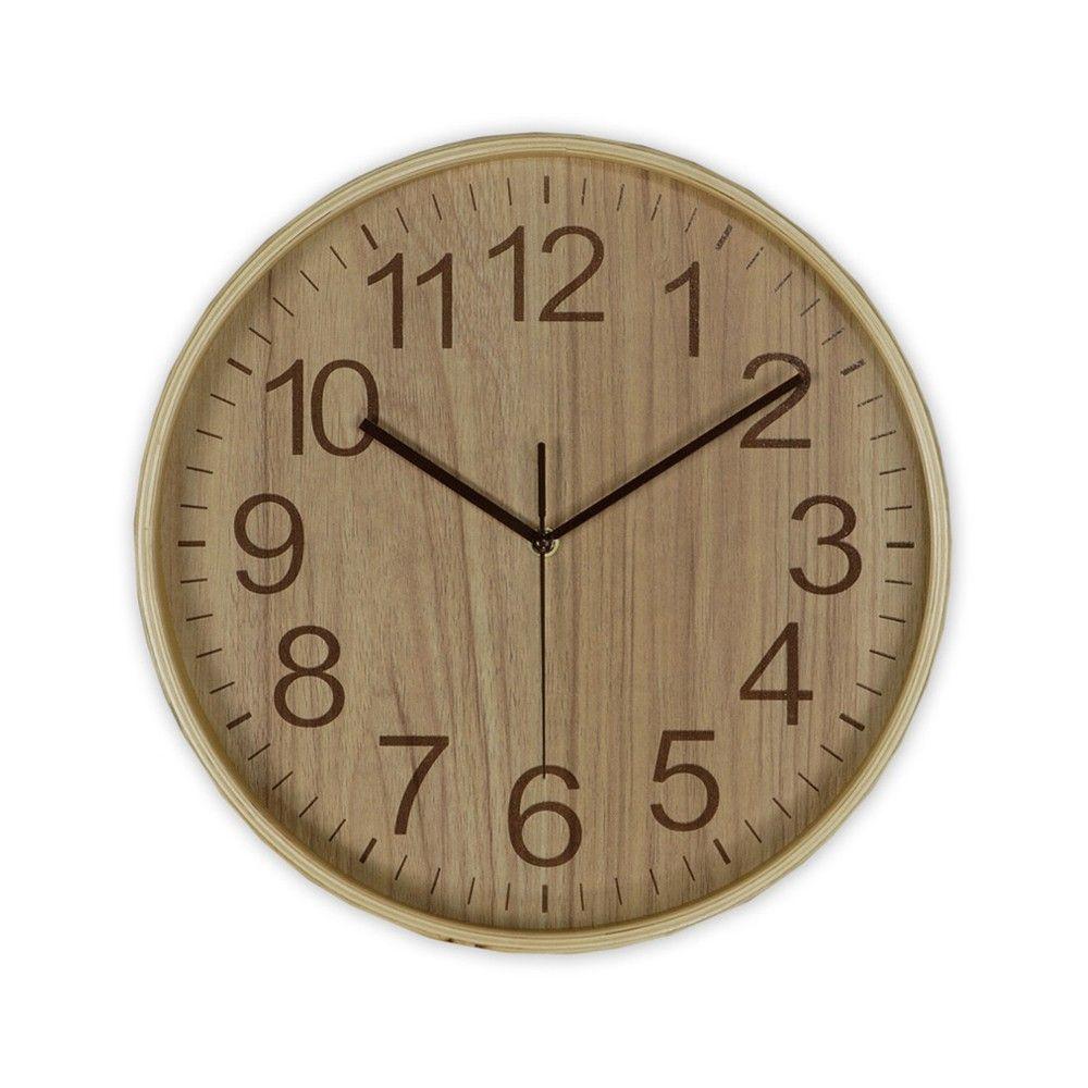 Reloj de pared andrea house madera natural relojes de - Reloj pared madera ...