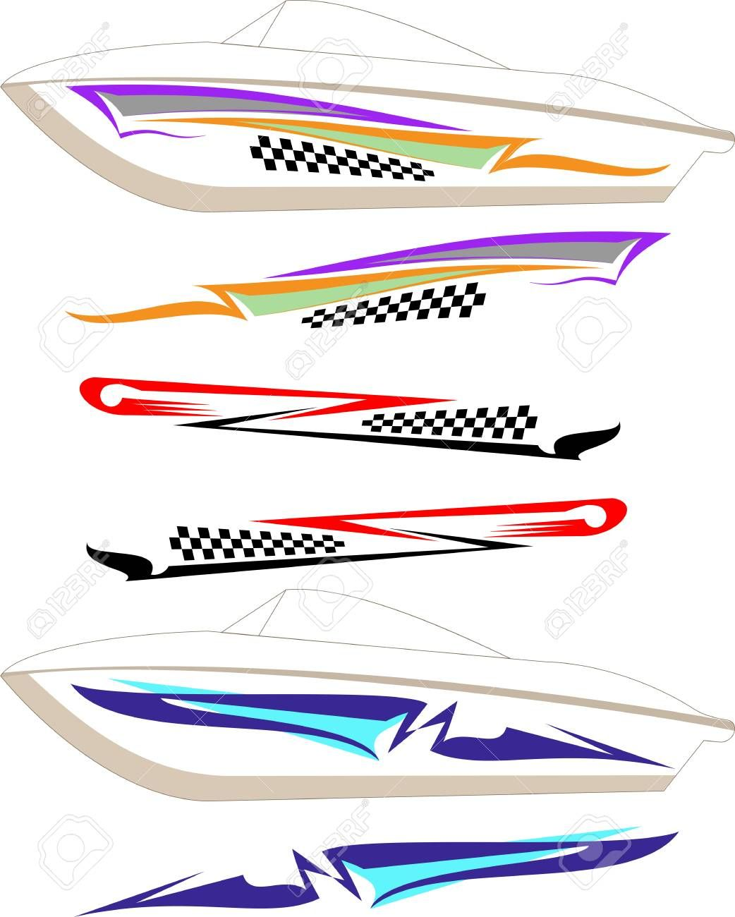 Boat Graphics Set Graphic Design Programs Graphic Boat Decals