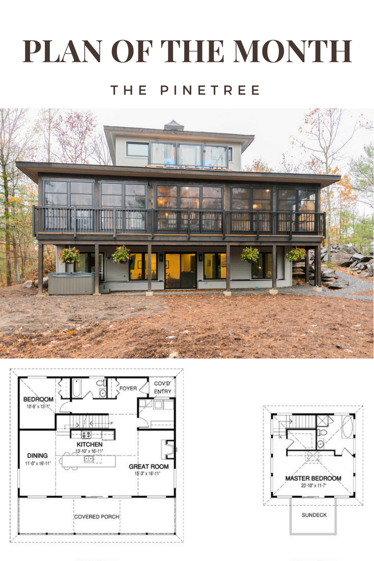 Plan Of The Month The Pinetree House Plan By Linwood Homes Lake House Plans Linwood Homes Modern House Plans