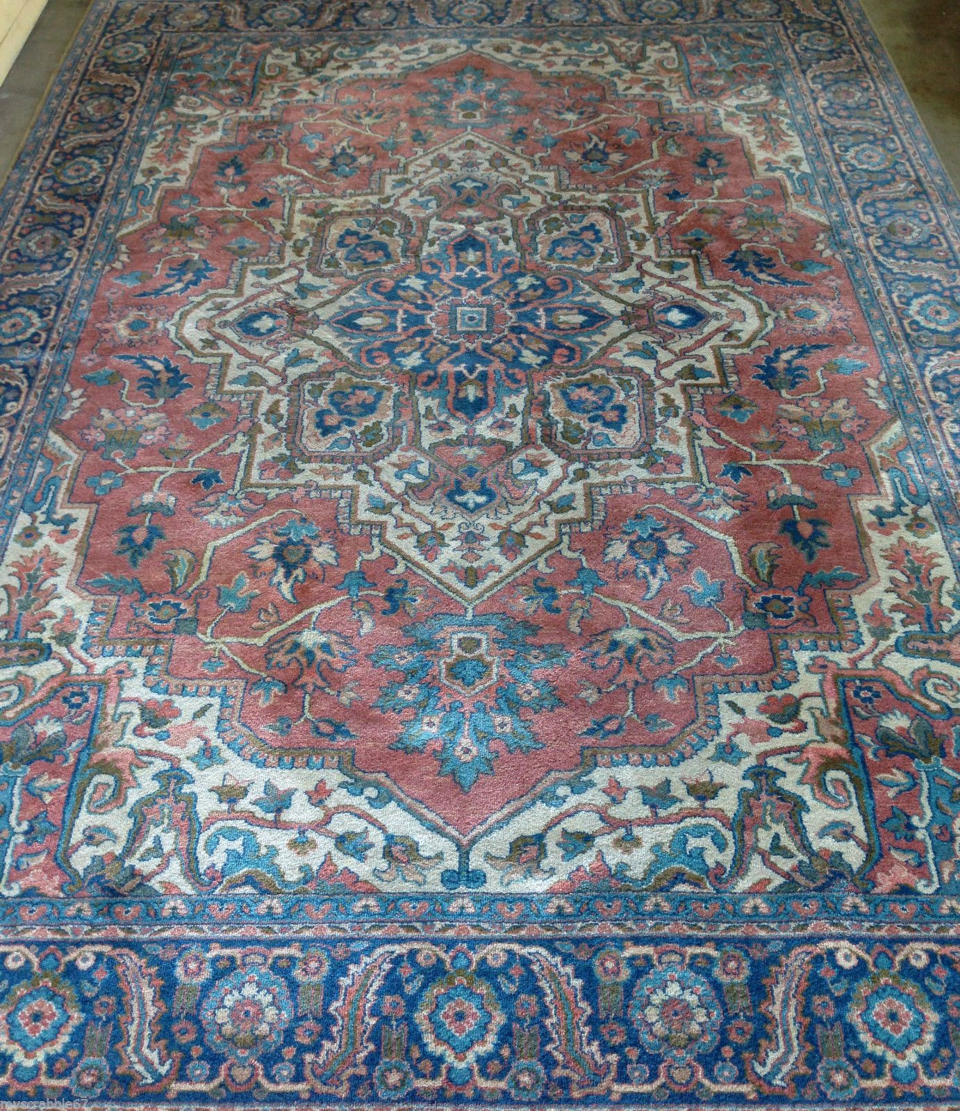 Details About Antique Serapi Pattern 744 Karastan Rug 9