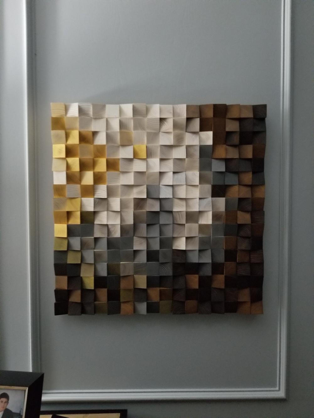 Morning In The Snowy Mountain Wood Wall Art Reclaimed Wood Art Etsy Reclaimed Wood Art Wood Art Geometric Wall Art