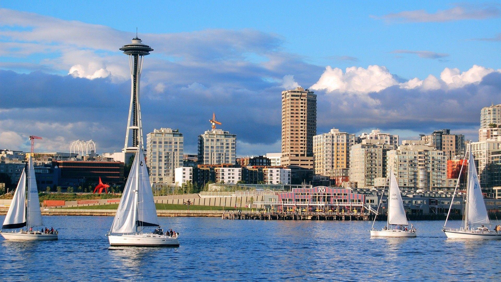 Seattle Space Needle Wallpaper Favimwalls Seattle Travel Seattle Wallpaper Seattle Travel Guide