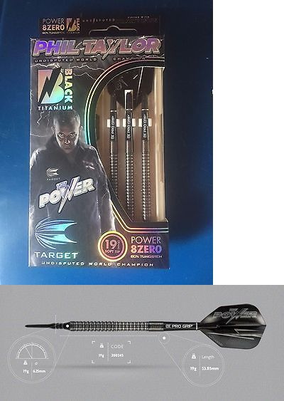 Darts-Soft Tips 26331: Phil Taylor Target Power 8Zero Black 19G 80% Tungsten Soft Tip Darts -> BUY IT NOW ONLY: $59.75 on eBay!