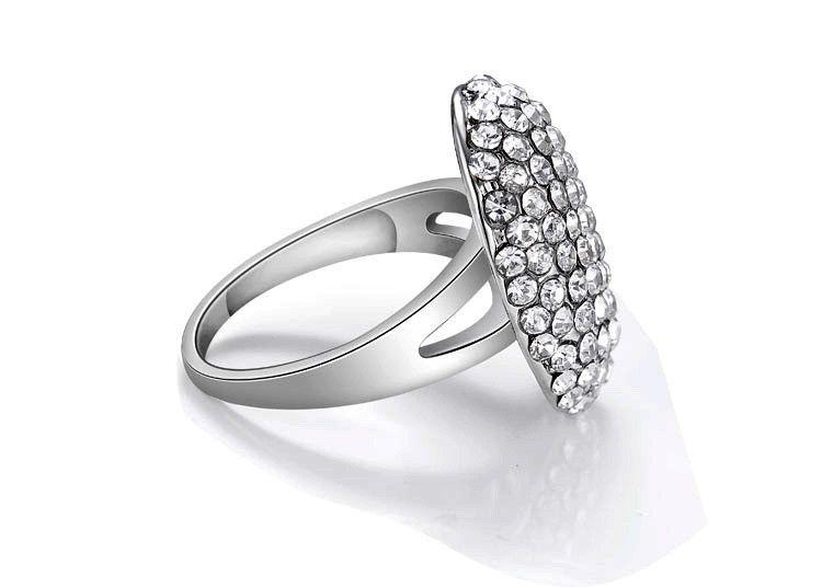 2016 fashion crystal jewelry full rhinestone midi finger wedding rings for women high quality