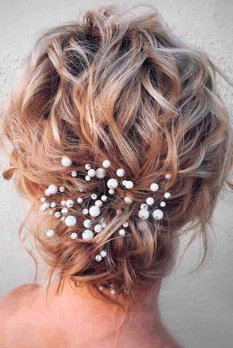 30 Lovely Wedding Hairstyles For Short Hair -   17 wedding hairstyles Short ideas