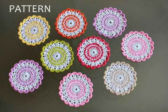 Sweet Crochet Coasters Pattern Zoomyummy Crochetknitting