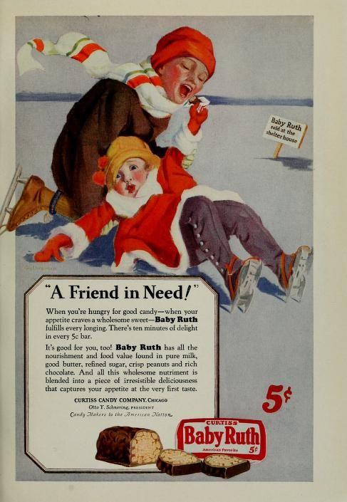 Baby Ruth | Vintage scrapbook, Baby ruth, Retro advertising