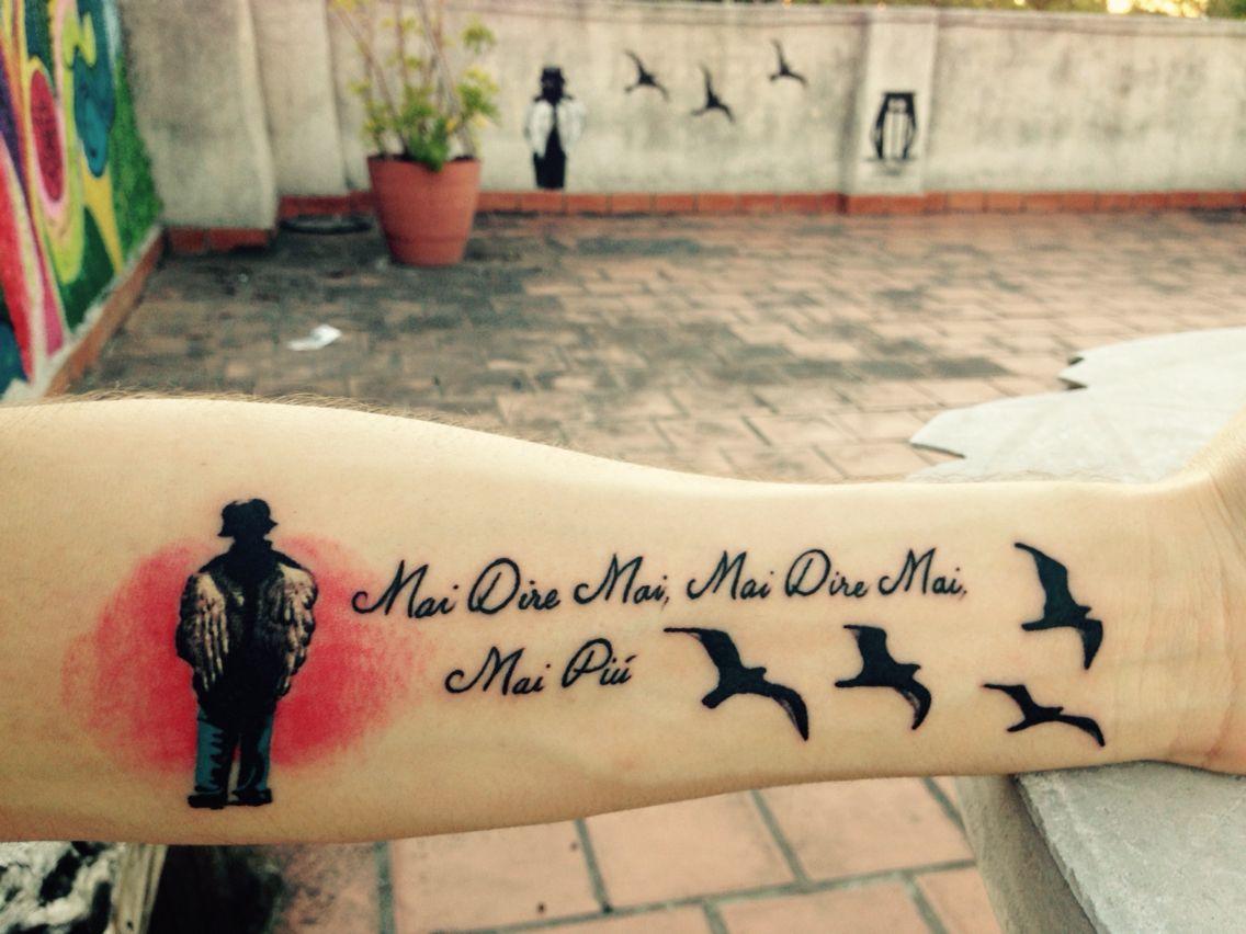 Tatuaje Indio Solari Pr Mai Dire Mai Mai Piu Pajaritos Bravos
