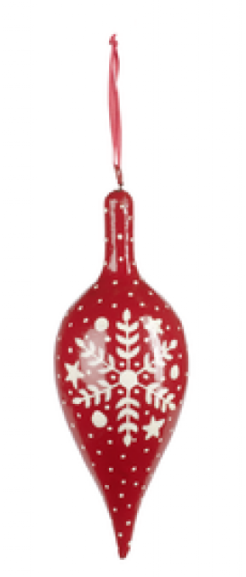 Villeroy & Boch Sladké Vánoce 2012 kapky červená / bílá