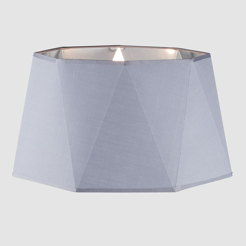 Toke Geometric Floor Lamp Shade In Grey And Silver Lamp Shade Geometric Floor Floor Lamp