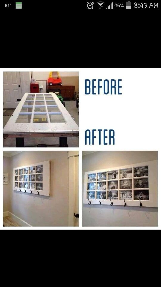 Recycle door to a beautiful picture frame!