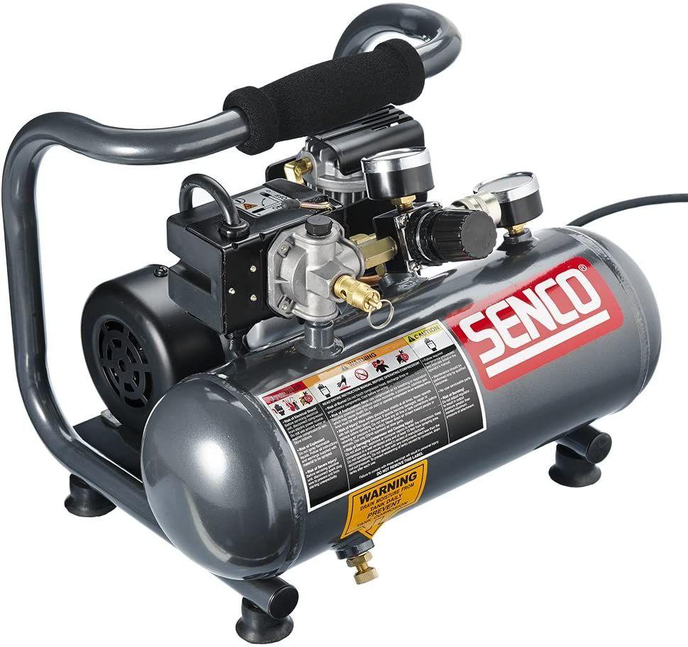 Senco 1Gallon Compressor,Gray/Red in 2020 Best portable