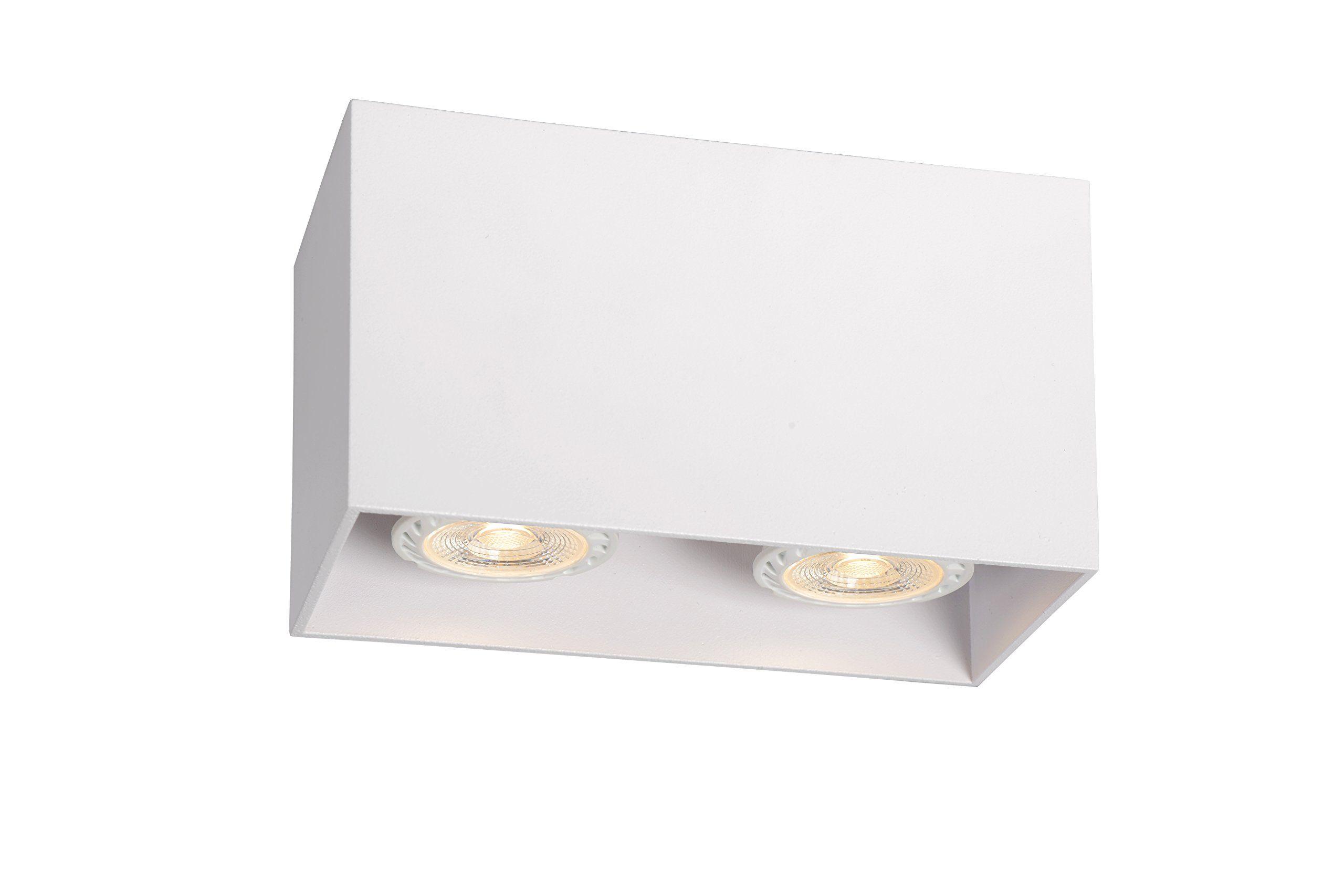 Plafoniere Led Rettangolare : Lucide bodi 09101 02 31 plafoniera rettangolare per 2 lampadine