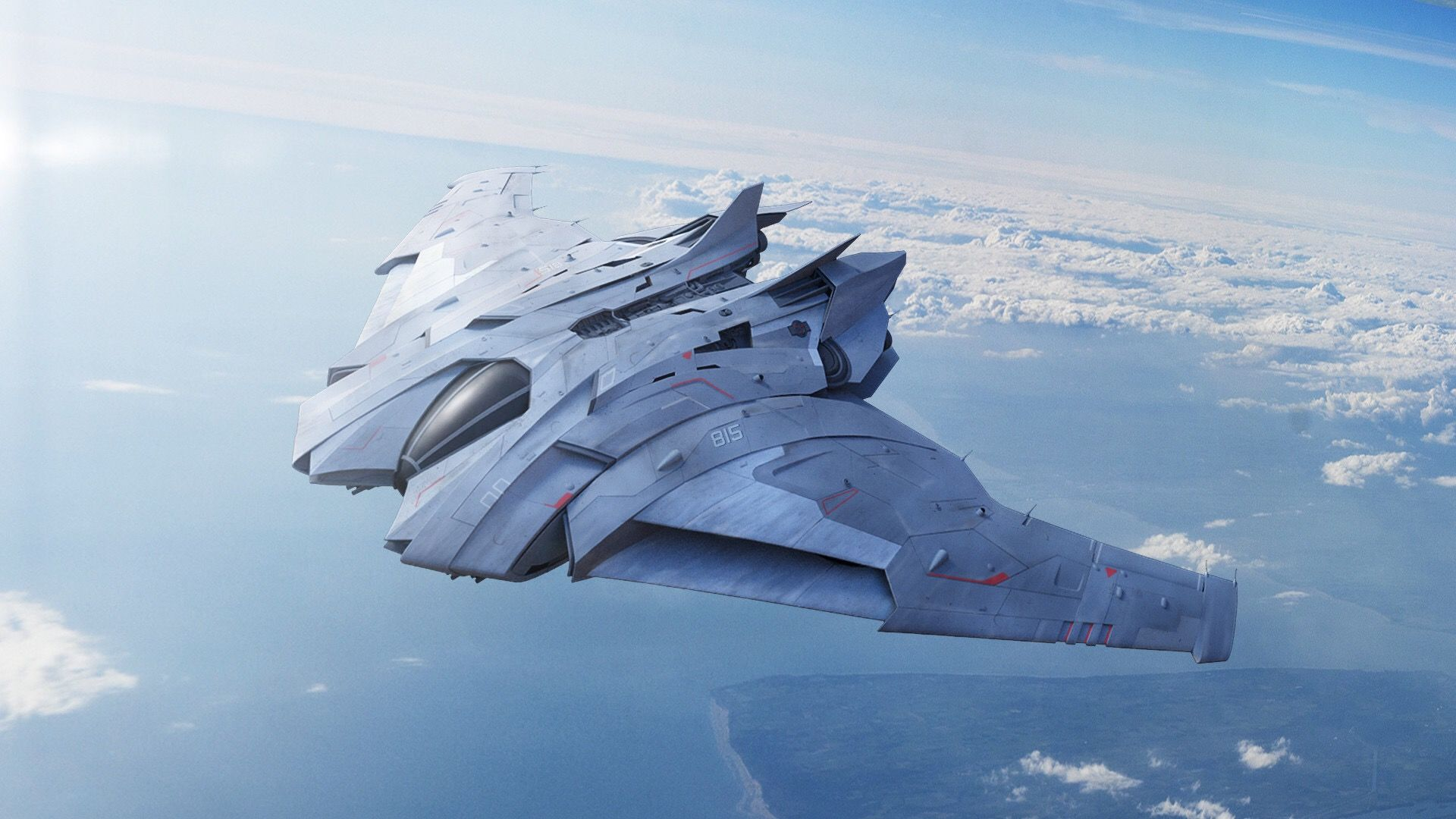 Aircraft concept | Aircraft, Space fighter, Concept ships