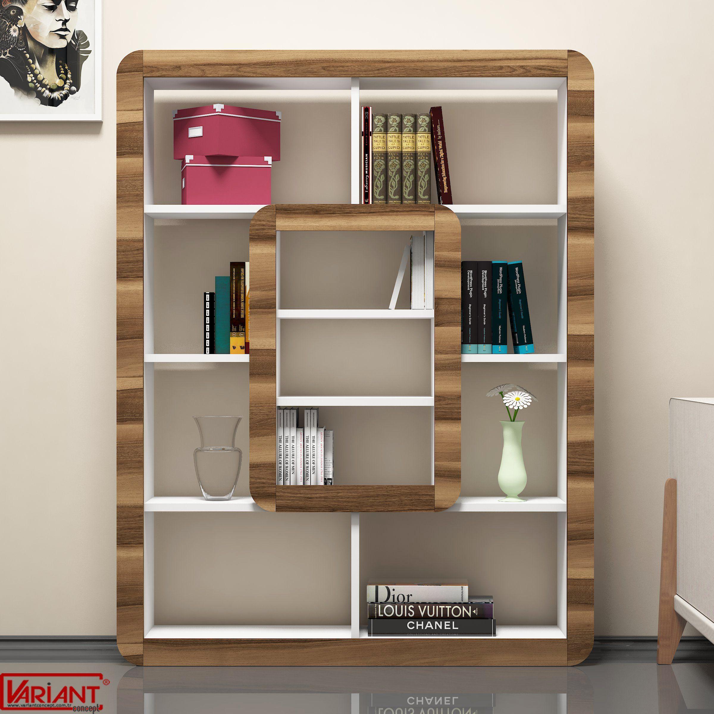 Biblioteca Orkide - Alb/Nuc | Modern living room interior ...