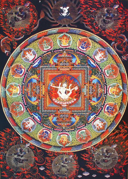 Tibeti Mandala minták