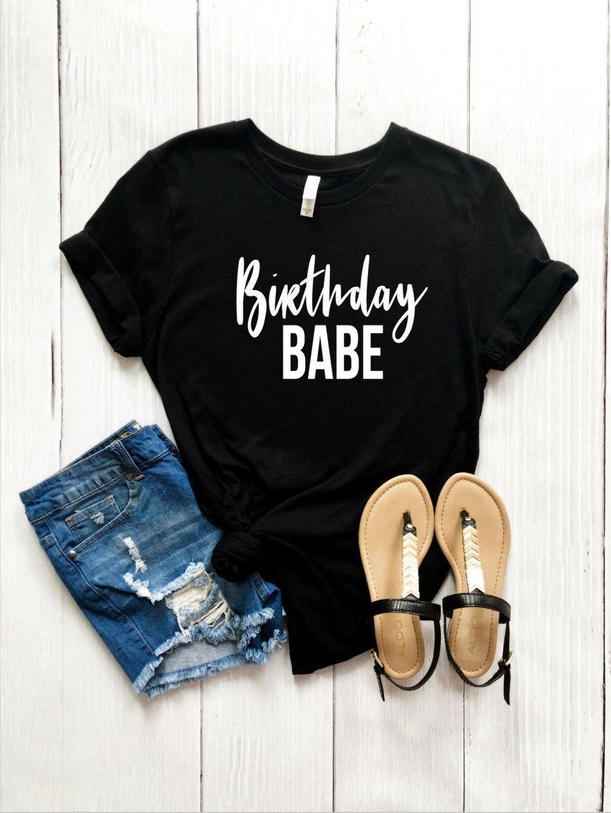 512e32a88c4a5 Birthday Babe Shirt - Birthday Queen - Birthday Squad - Birthday Outfit -  Birthday T-