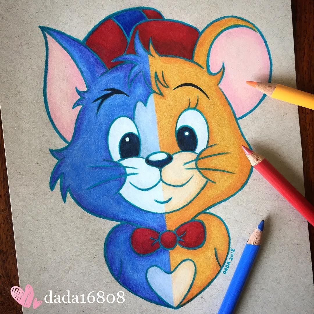 how to draw tom and jerry cartoon