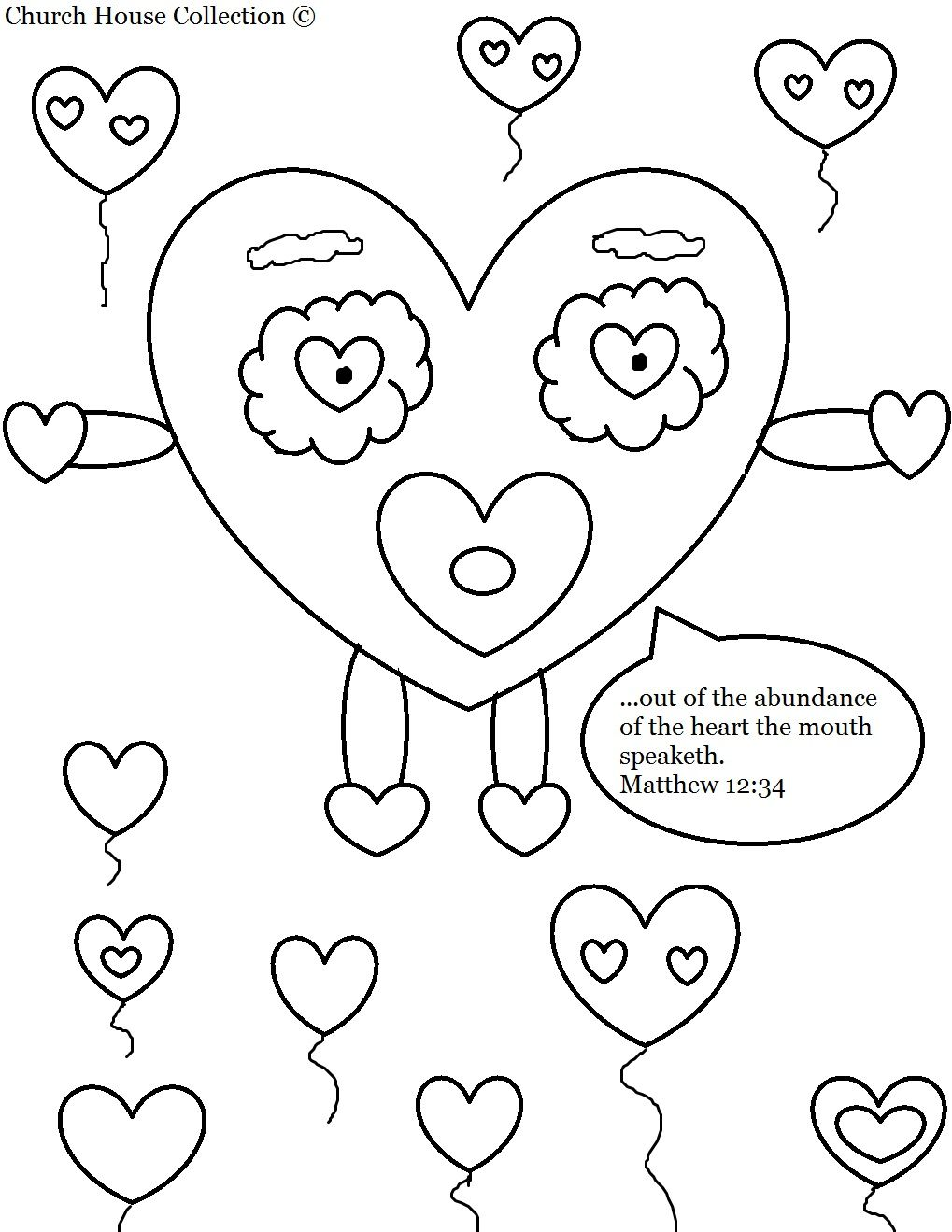 Church House Collection Blog Valentines Day Heart Coloring Page