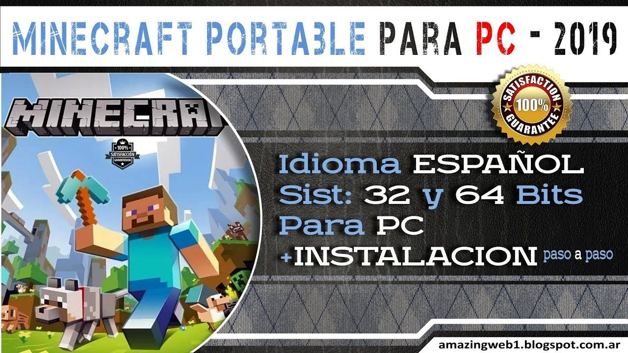 Minecraft Portable Para Pc En Español 2019 Sin Java Español Minecraft Video Instalacion