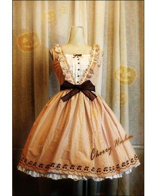 6e622322928d HMHM Bloody Pumpkin Cherry JSK Dress #lolitadress #JSK   ❤ JSK ...