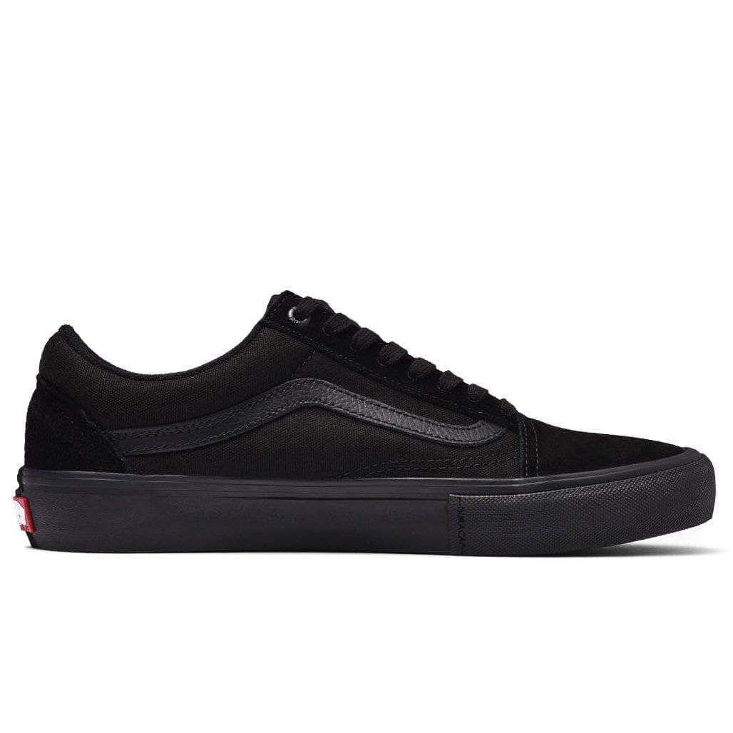 Vans Old Skool Pro Skate Shoes Blackout Skate Shoes Vans Old Skool Mens Skate Shoes