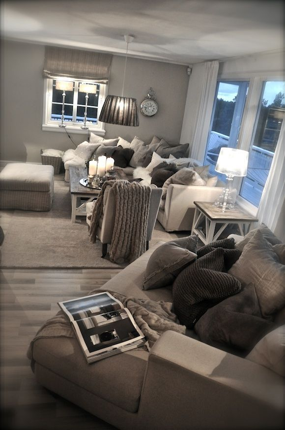 Living Room · Grey Living RoomsLiving Room Decor ThemesLiving Room  IdeasBedroom DecorBig Comfy ...