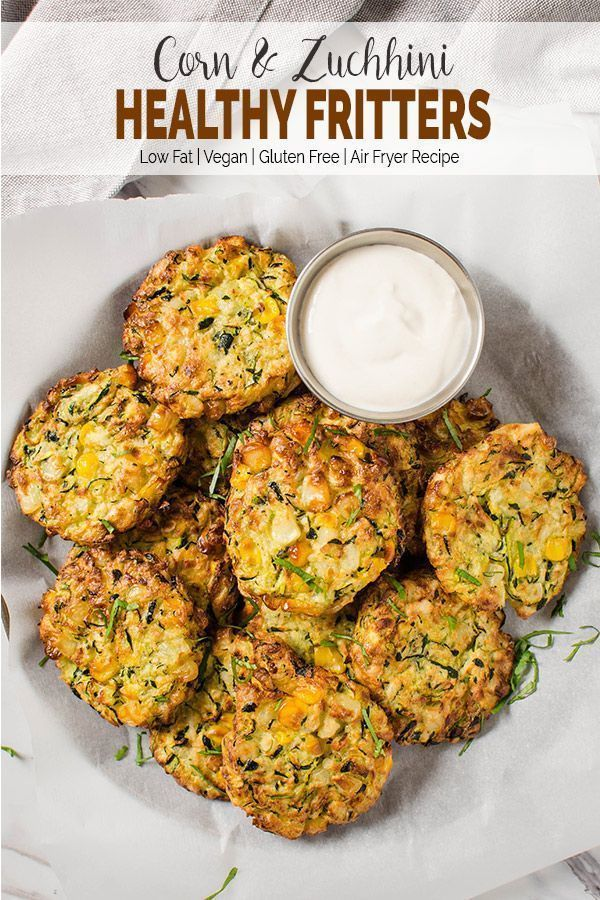 #appetizers #zucchini #fritters #healthy #airair #fryer #corn #airFryer Healthy Zucchini Corn Fritte...