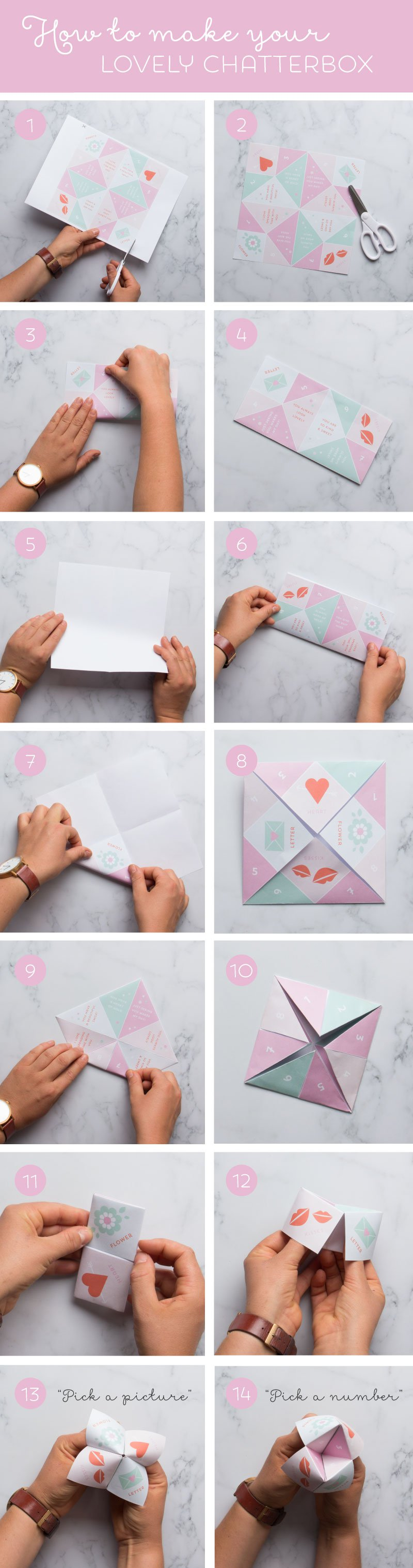 Valentines Chatterbox Printable Heart And Valentine Crafts