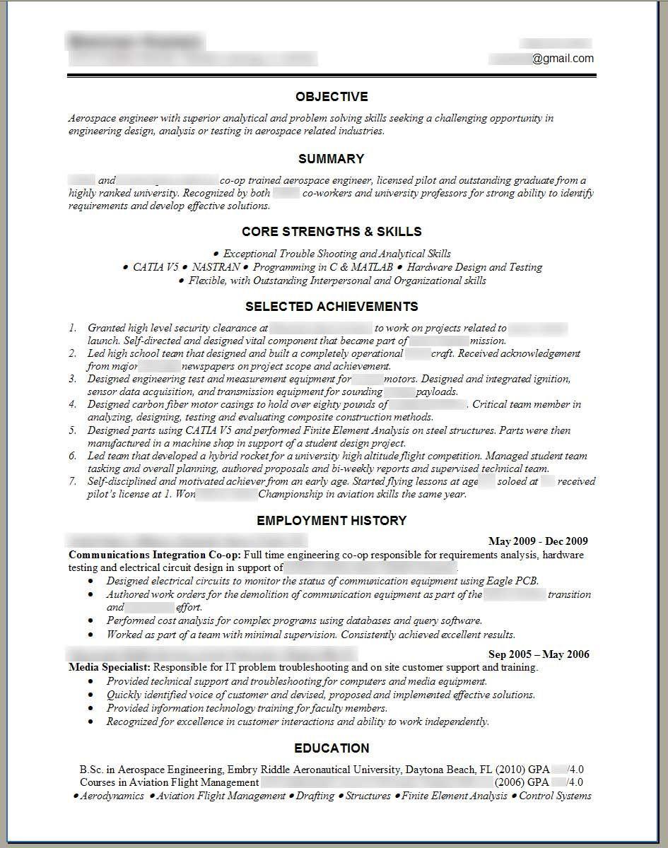 Free Mini Course Engineering resume templates, Job