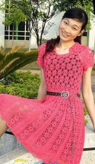 Pin de Elizabeth Cano en vestidos tejidos   Pinterest   Vestidos ...