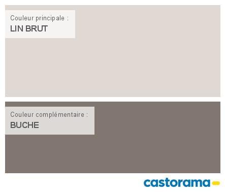 Castorama Nuancier Peinture - Mon harmonie Peinture LIN BRUT satin - peinture sur beton brut