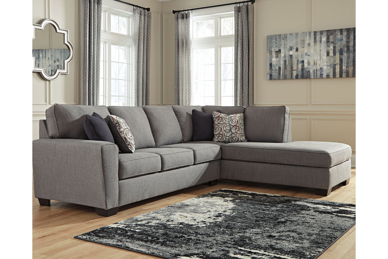 Larusi 2 Piece Sectional With Chaise Furniture Grey Sectional
